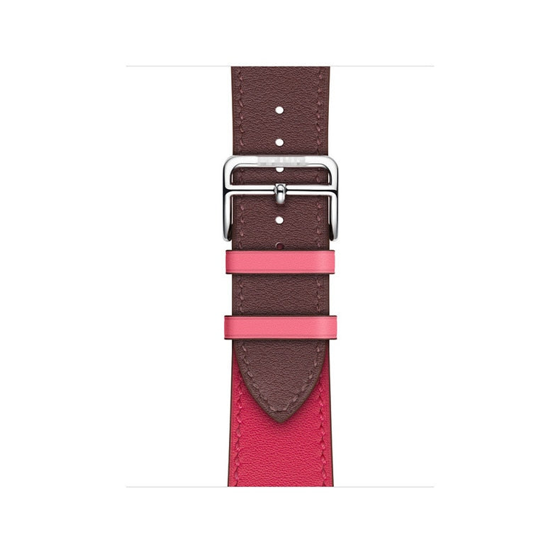 Leather Watch Band Classic Buckle, Compatible With Series 5/4/3/2/1