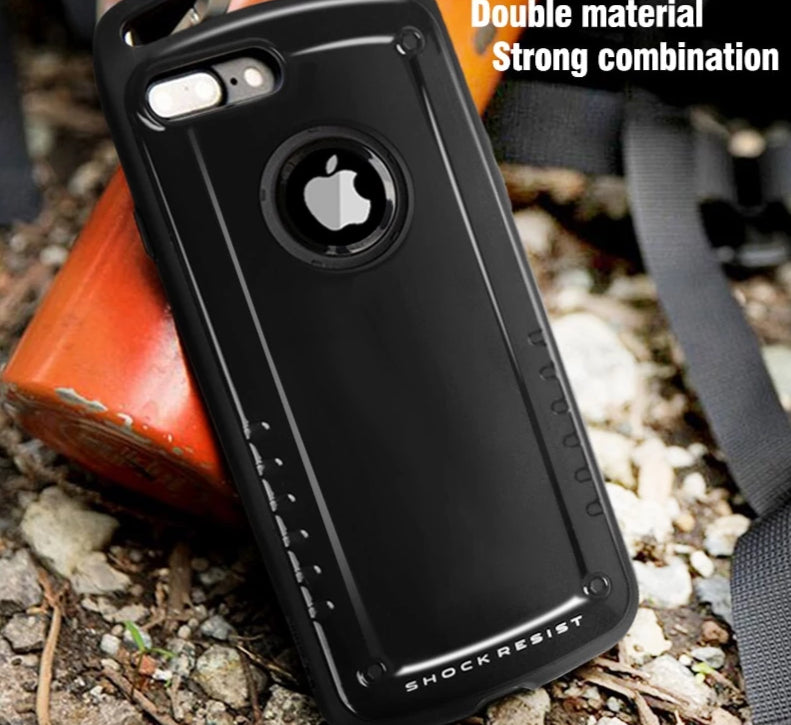Hybrid Protective Hard Silicone Heavy Duty Armor Sport Case For iPhone 7 8 Plus X XS Max XR