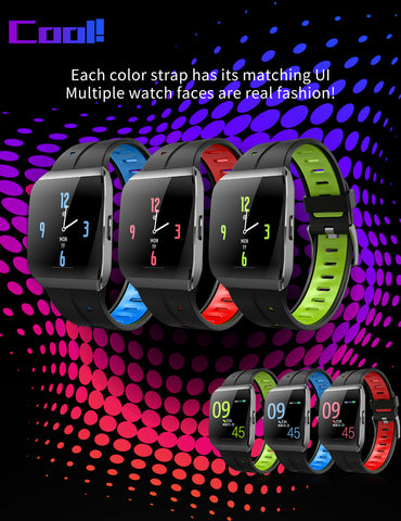 Image of IP68 Waterproof Heart Rate Monitor Weather Forecast Activity Fitness Tracker Sport Smartwatch