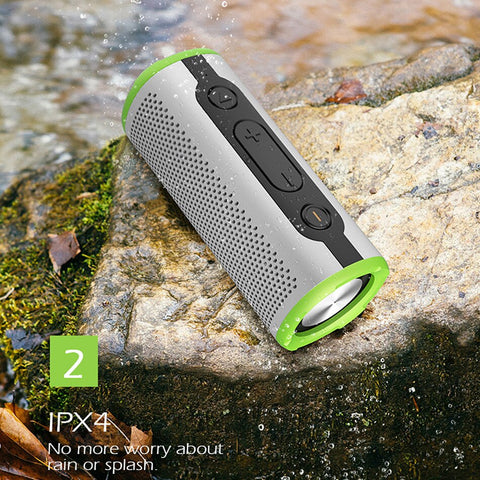 Waterproof Portable Bluetooth Wireless Speaker Outdoor Bass Stereo With Microphone