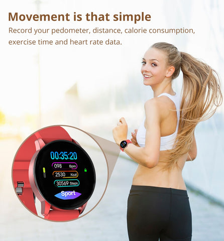 Image of Fitness Tracker Smart Watch Heart Rate Monitor Sport Smartwatch For iOS Android