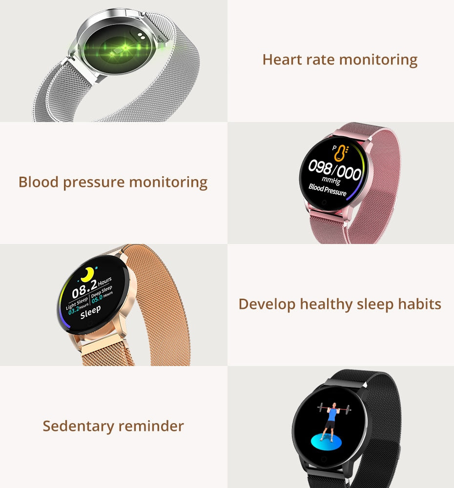 Fitness Tracker Smart Watch Heart Rate Monitor Sport Smartwatch For iOS Android