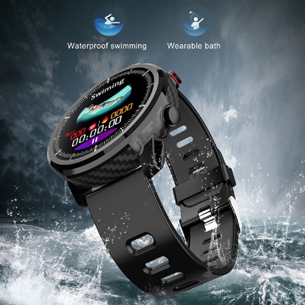 IP67 Waterproof Heart Rate Monitor Blood Pressure Fitness Tracker Smartwatch For Android iPhone