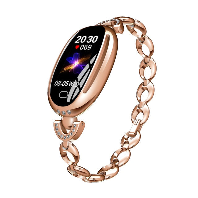 Fitness Heart Rate Sleep Monitor Sport Bracelet Smartwatch For Ladies Women