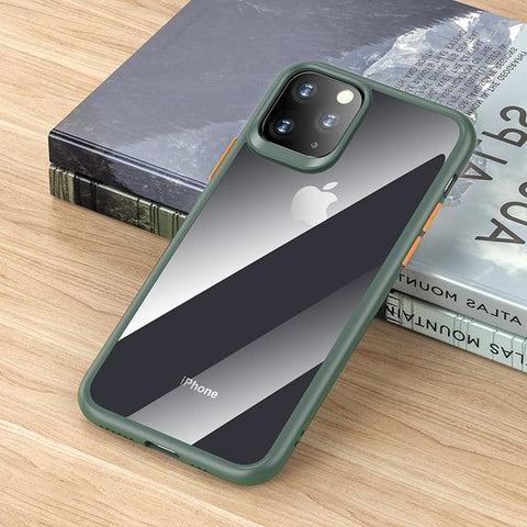 Image of Case Rock Mil-Grade Certified Case with Shockproof Bumper Anti-Scratch Frost Black Cover for iPhone 11 Pro Max