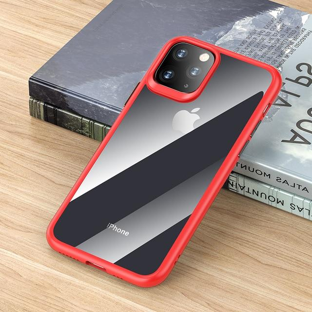 Case Rock Mil-Grade Certified Case with Shockproof Bumper Anti-Scratch Frost Black Cover for iPhone 11 Pro Max