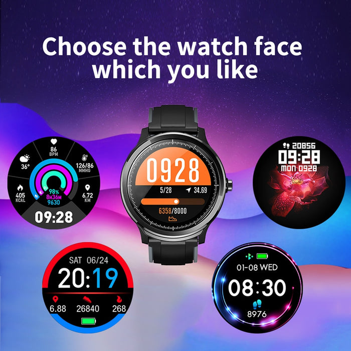 IP68 Waterproof 1.3 Inch Heart Rate Monitor Fitness Tracker Sport Smartwatch For Android IOS