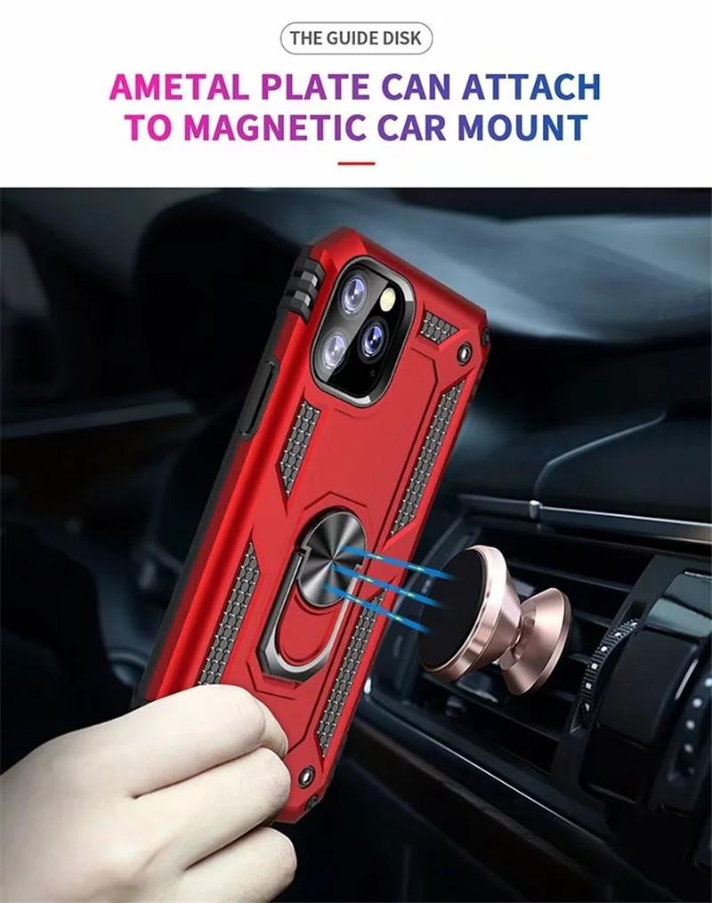 Case Armor Magentic Ring Silicone Phone Case For iPhone 11 Pro Max 7 8 6 6S Plus X XR XS Max