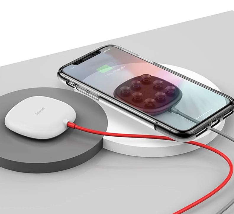 Suction Cup Wireless Charger For iPhone 11 Pro Max Qi Wireless Charging Pad