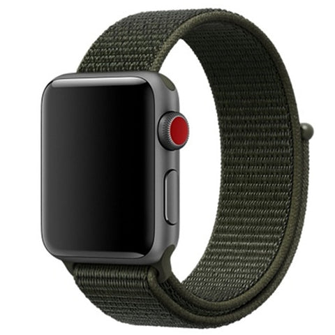 Image of Apple Watch Band, Woven Nylon Scratch Sport Loop, Two Colors