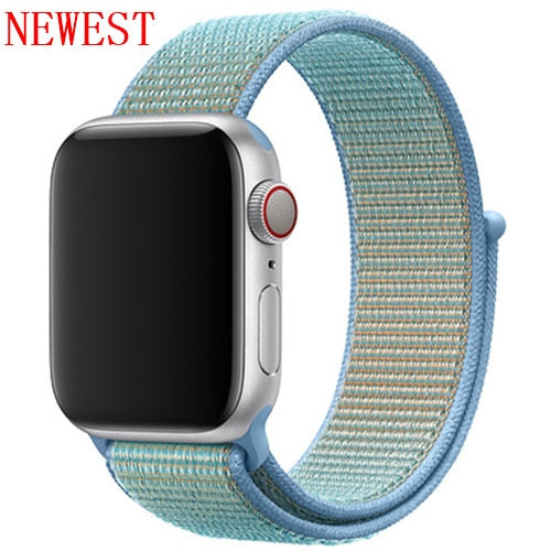 Apple Watch Band, Woven Nylon Scratch Sport Loop, Two Colors