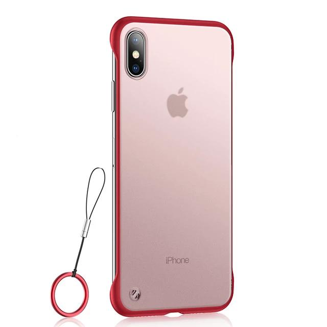 Slim Frameless Case On For iPhone 11 Pro Max XR X XS MAX Translucent Matte Cover