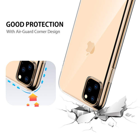 Image of Slim Thin Clear Soft For iPhone 11 Pro Max Case Premium Flexible Chrome Bumper Transparent