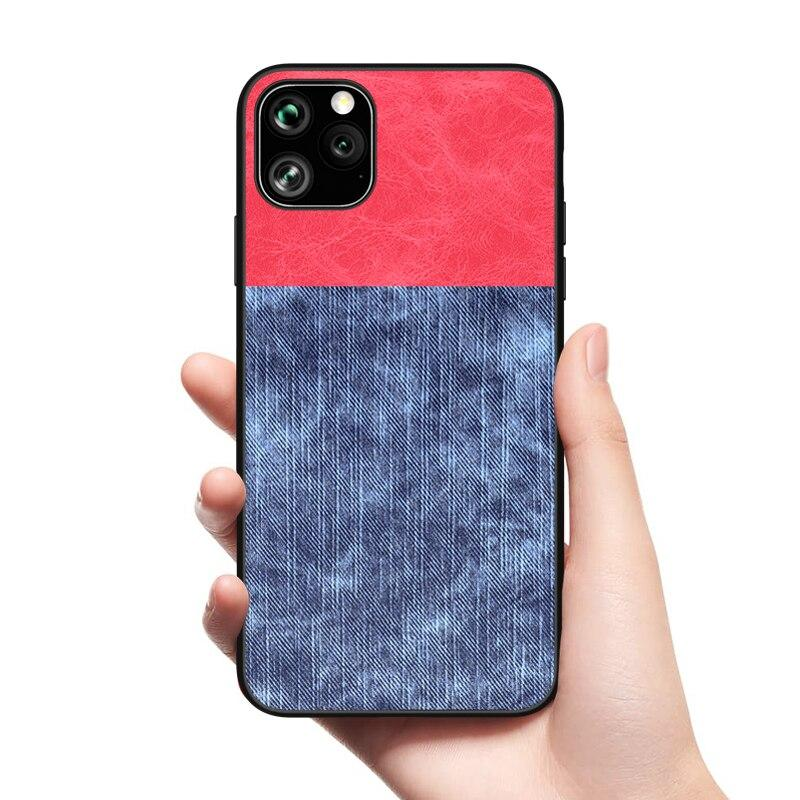 Cowboy Fabric Case for iPhone 11 Pro Max Fashion Back Cover
