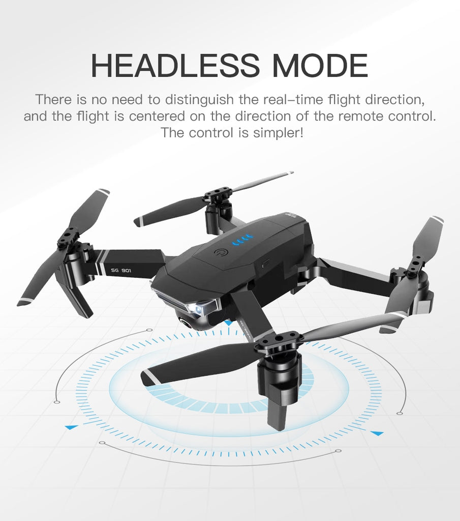 SG901 FPV Foldable Drone With 4K HD Camera and Long-Lasting Battery