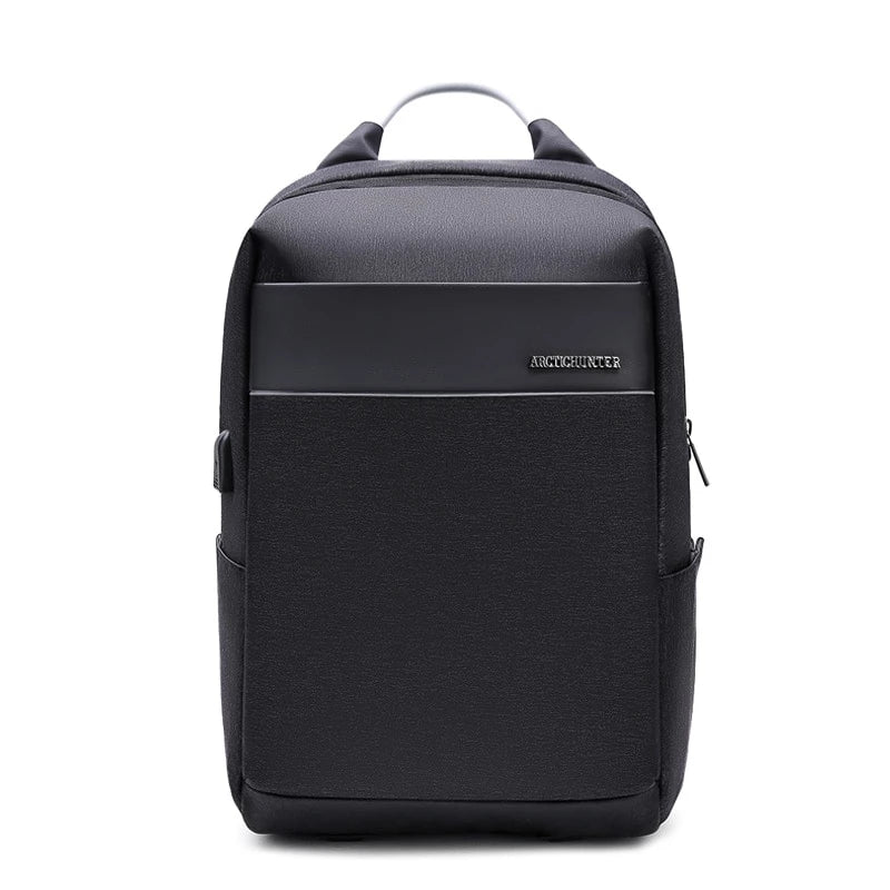 Laptop Backpack USB Charging Business Traveling Waterproof Casual Style Computer Bag