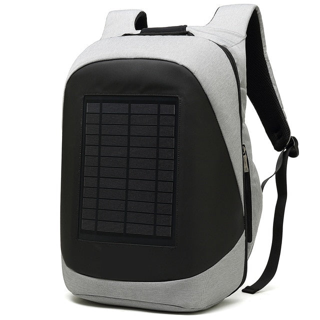 Solar Charging Anti-Theft High Capacity Laptop Computer Business Outdoor Backpack Bag