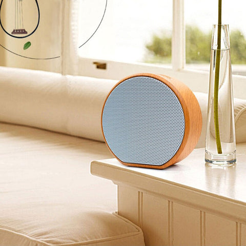 Image of Wood Grain Portable Bluetooth Speaker