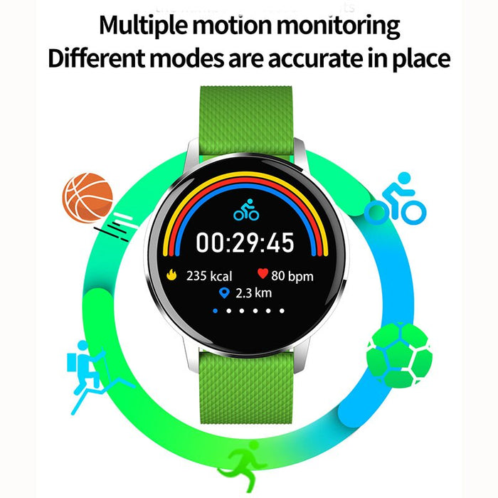 Heart Rate Monitor Fitness Tracker IP68 Waterproof Smart Watch For Android IOS