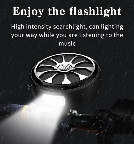Image of Waterproof Bluetooth Bass Stereo Outdoor Wireless Subwoofer Flashlight Power Bank Speaker