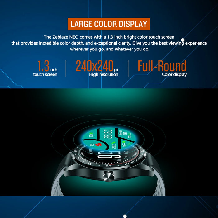Color Touch Display Heart Rate Blood Pressure IP67 Waterproof Smartwatch For Android iPhone