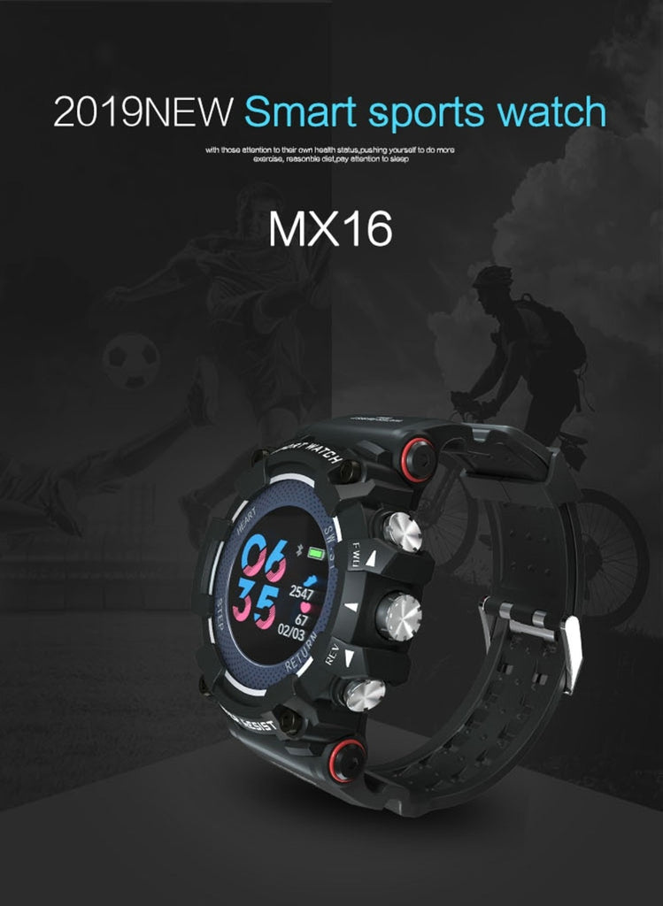 Color Screen Sport Smart Watch 50 ATM Waterproof Men Heart Rate Monitoring Smartwatch For iPhone Android