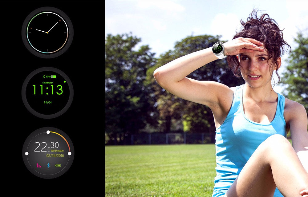 New Full Round IPS Heart Rate Smart Watch for IOS and Android