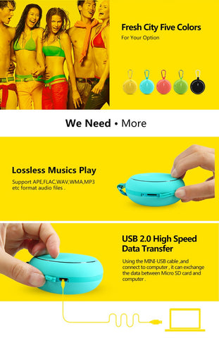 Image of New Outdoor Wireless Bluetooth Stereo Portable Speaker with Built-in Mic - Shock Resistance IPX6 Waterproof Speaker with Bass