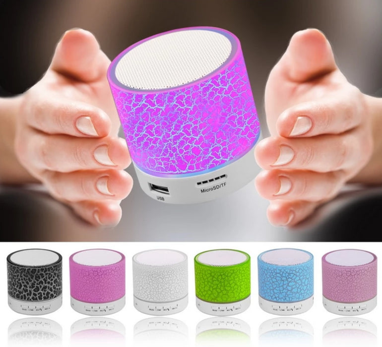 Portable Mini Bluetooth Speakers With Eye-catching LED Effect
