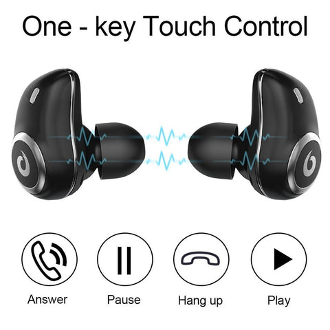 Image of New Wireless Sports Bluetooth Earphones Headphones Headset Wireless 3D Stereo Headsets with Power Bank