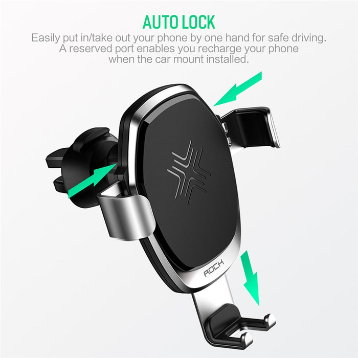 Wireless Metal Gravity Car Holder Charger