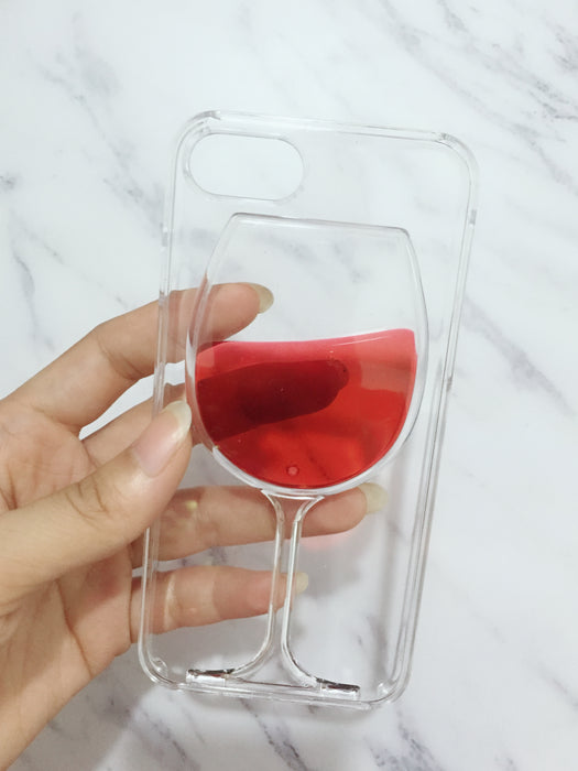 3D Red Wine Glass Phone Case For iPhones