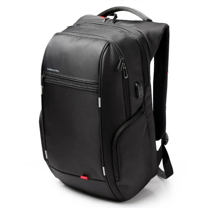 Anti-Theft Notebook Laptop Mochila Backpack 15.6 Inch Water-Repellent with Battery Slot for USB Charging