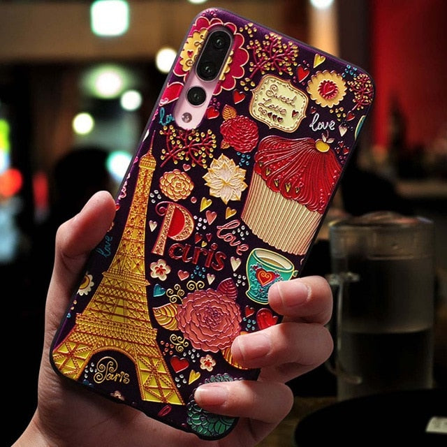 Floral Paris Cake Shop Phone Case For Huawei