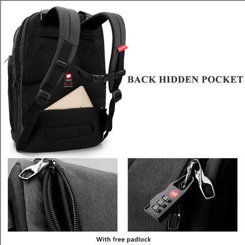 Image of 15.6 Inch Laptop Backpack with USB Charge Computer Bag for Men and Women