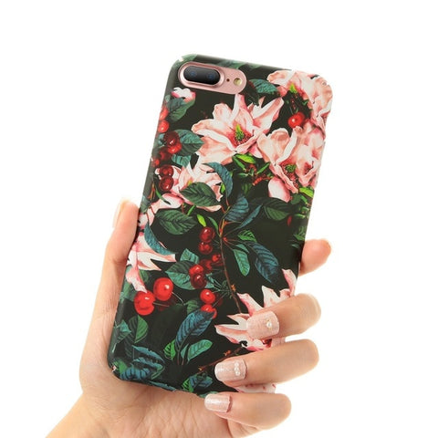 Image of Artistic Leaf Case For iPhones