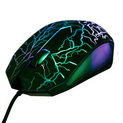 Professional Colorful 4000DPI Optical Wired Gaming Mouse