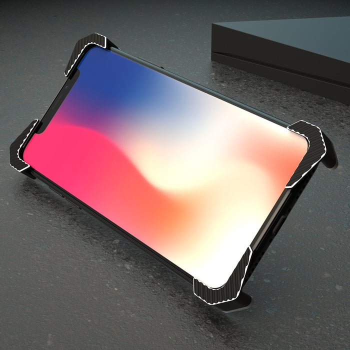 New Luxury Case Frame Aluminum Back Cover Phone Case with Ring Holder for Apple iPhone XR XS X 8 Series