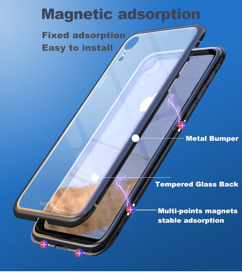 New Luxury Ultra-Thin Metal Case Light Weigh Built-In Soft TPU Phone Case for iPhone 7 8 Plus X XR XS Max