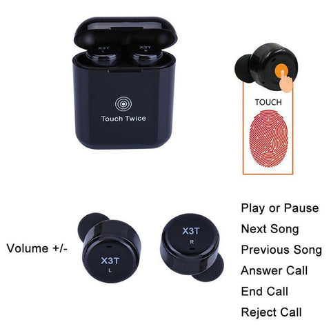 Image of New True Wireless Earbuds TWS Mini Headphone Bluetooth In-Ear Earphone with 600mAH Charger Box for Android IOS Phone
