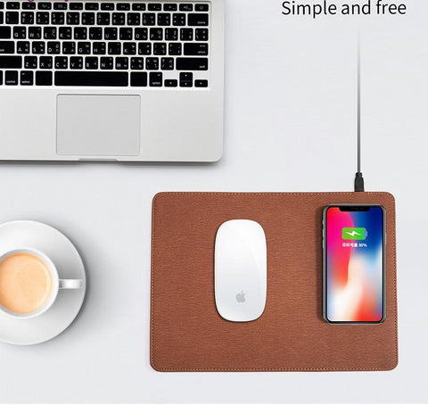 Image of Mobile Phone Qi Wireless Charging Mouse Pad