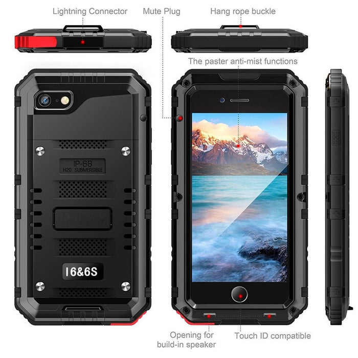 New Deluxe Armor IP68 Water-Resistant Shockproof Dustproof Snowproof Case Cover for iPhone 8 X XS XR Series