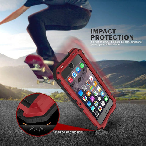 Image of New Deluxe Armor IP68 Water-Resistant Shockproof Dustproof Snowproof Case Cover for iPhone 8 X XS XR Series