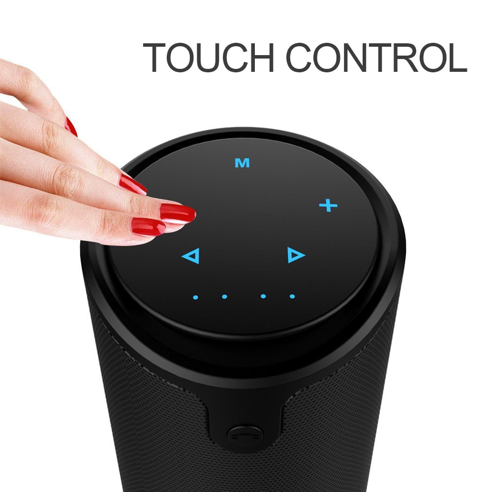 3D Stereo Bluetooth Wireless Subwoofer Column Portable Touch Control Hands-Free Speaker With Mic