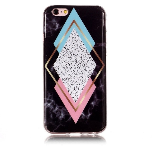 Luxury Geometric Triangle Marble Case for Samsung