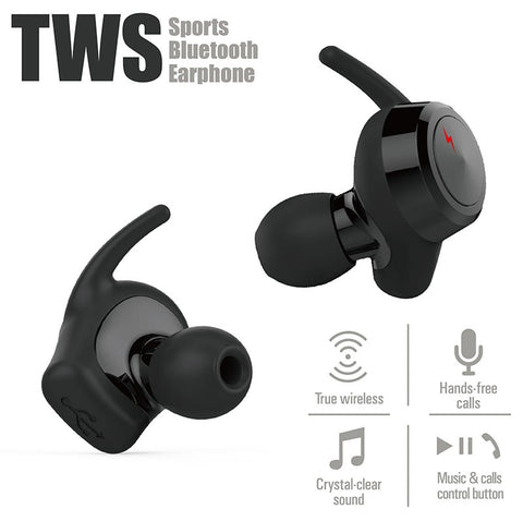 Image of New True Wireless Bluetooth 4.2 Earbuds Sport Headset In-Ear Noise Cancelling Earphone with Surround Sound