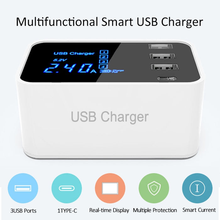 Multi 8 Port USB Charger