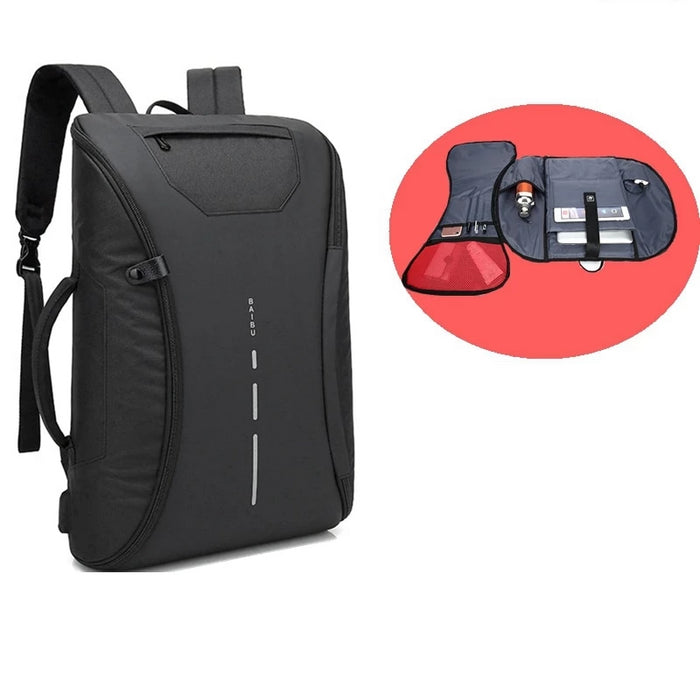 Smart Multifunctional Laptop Computer Backpack Casual Business Travel Bag with External USB Charger for Mobile Phones