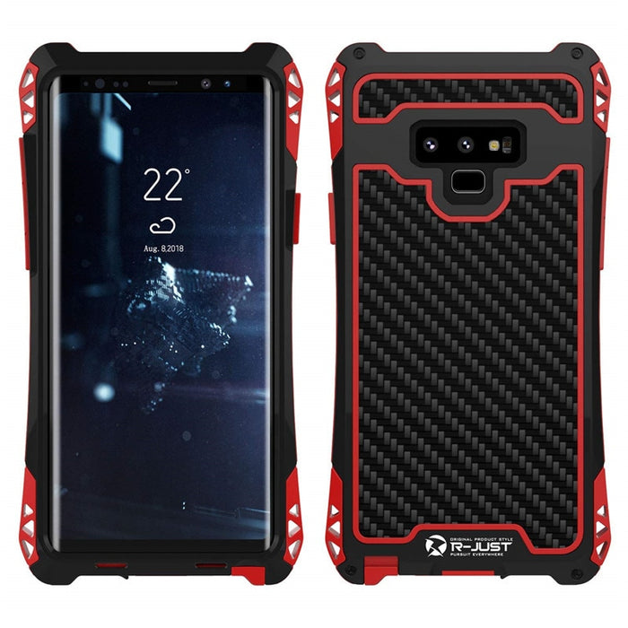 New Carbon Fiber Suited Armor Aluminum Shockproof Case w/ Outdoor Anti-Shock Cover for Samsung Galaxy S8 / S9 / S10 / Note 8 / Note 9 Series