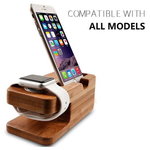 Image of Bamboo Smart Phone Watch Charging Dock